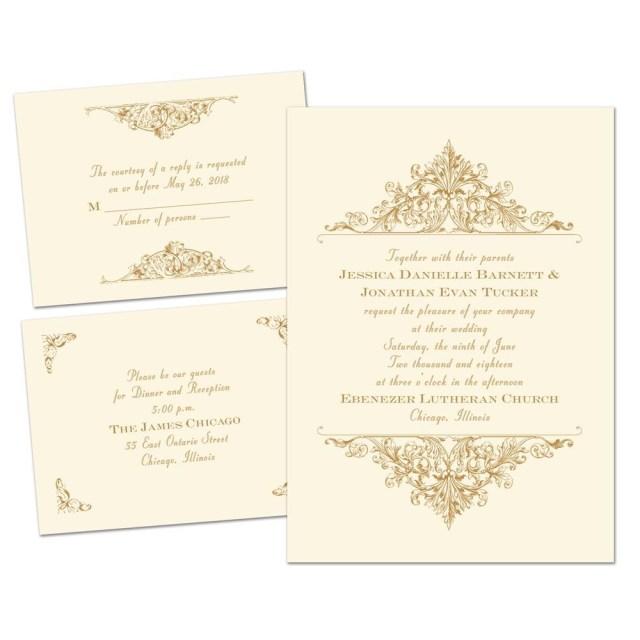Antique Wedding Invitations Vintage Victorian Separate And Send Invitation Anns Bridal Bargains