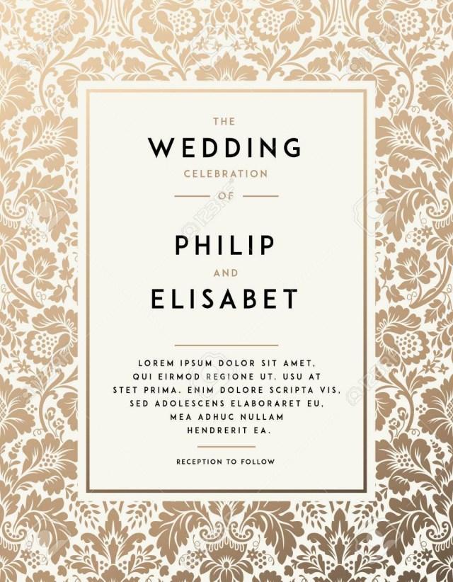 Antique Wedding Invitations Vintage Wedding Invitation Template Modern Design Wedding