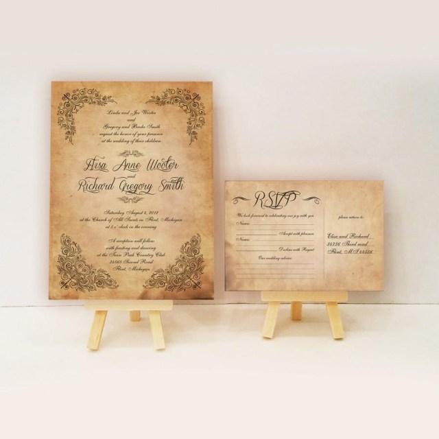Antique Wedding Invitations Vintage Wedding Invitations Antique Vintage Invitations Scroll