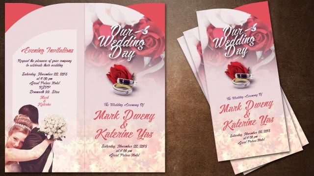 Awesome Wedding Invitations How To Make Creative Wedding Invitations Cover In Photoshop Youtube