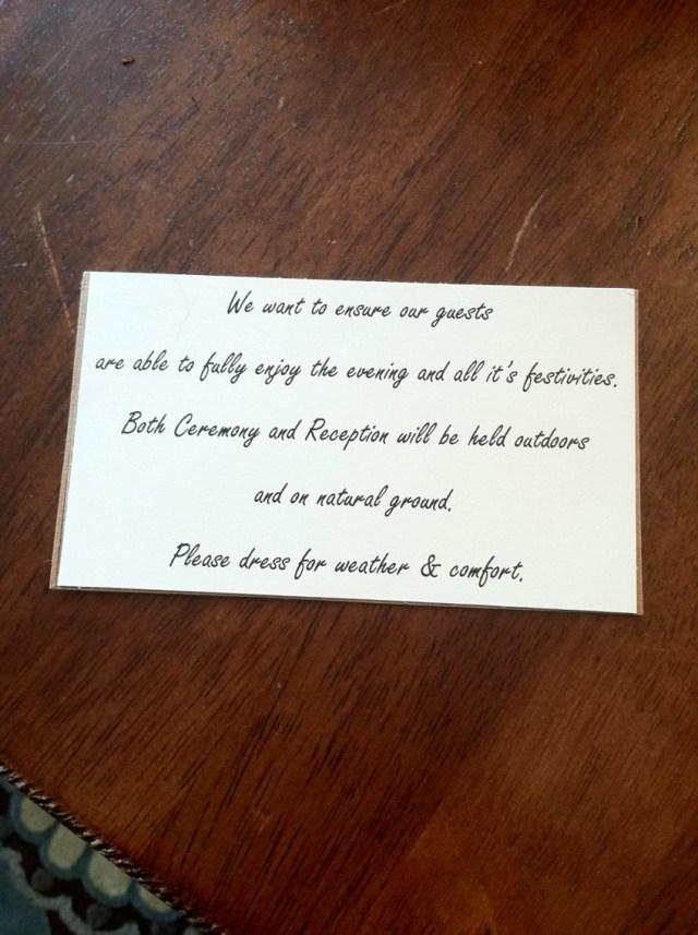 Backyard Wedding Invitation Wording Samples Outdoor Wedding Invite Wording For Guests Attire Country Weddings