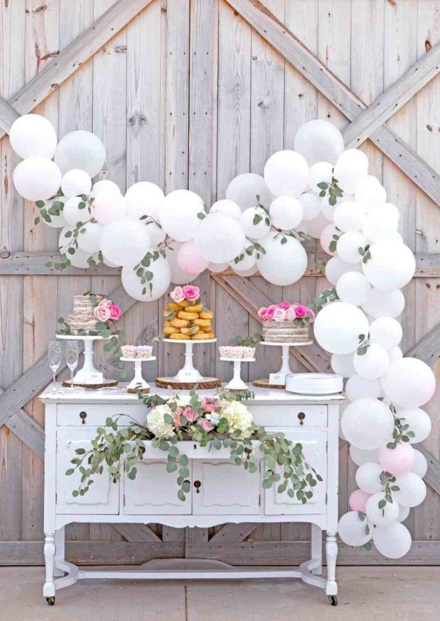 Baloon Decorations Wedding Party Decorations Diy Peach Afternoon Tea Party Wedding Vintage The