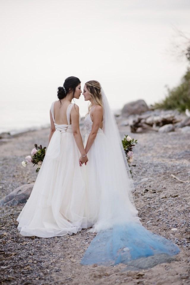 Beach Wedding Ideas Dreamy Misty Blue And Burgundy Beach Wedding Inspiration