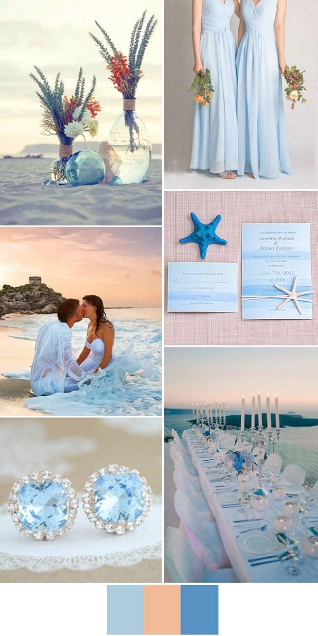 Beach Wedding Ideas Light Blue Beach Wedding Ideas For 2017 Bridalore