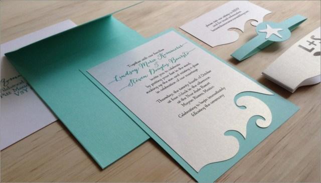 Beach Wedding Invites Wedding Accessories Wedding Invitation Bride Creative Wedding