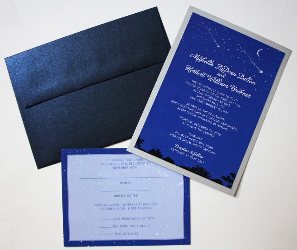 Blue And Silver Wedding Invitations Astrology Themed Wedding Invitations Emdotzee Designs