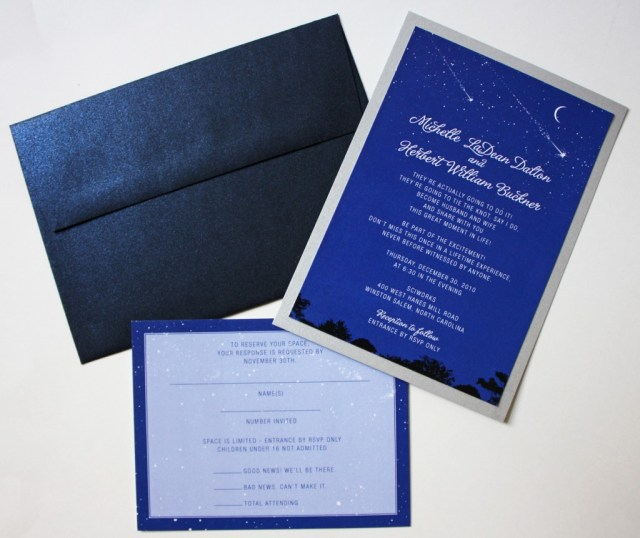 Blue And Silver Wedding Invitations Astrology Themed Wedding Invitations Emdotzee Designs