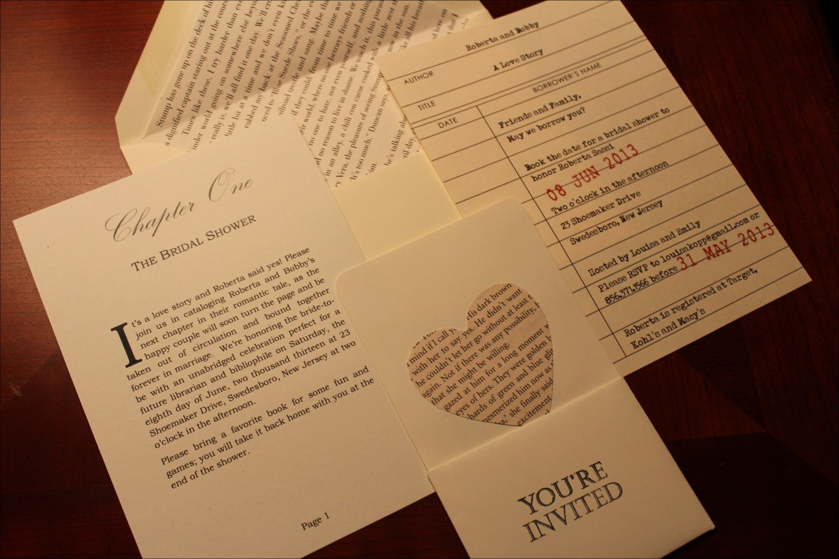 35+ Marvelous Image of Book Themed Wedding Invitations