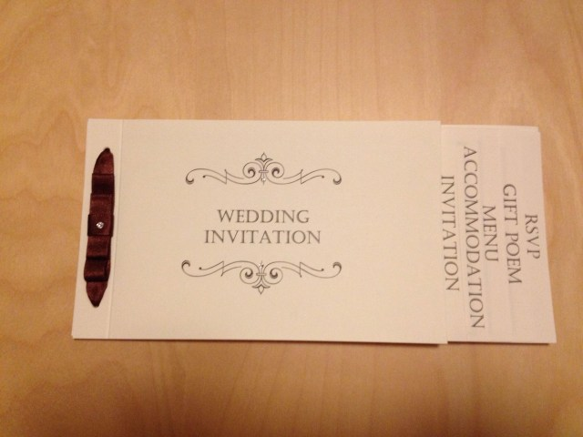 Book Wedding Invitations Classical Cheque Book Wedding Invitation From Wwwlittlehwithlove