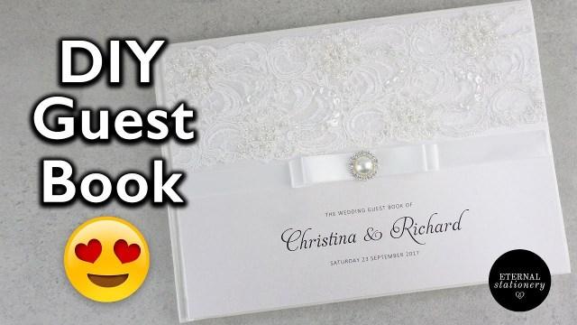 Book Wedding Invitations Hardcover Wedding Guest Book Tutorial Diy Wedding Invitations