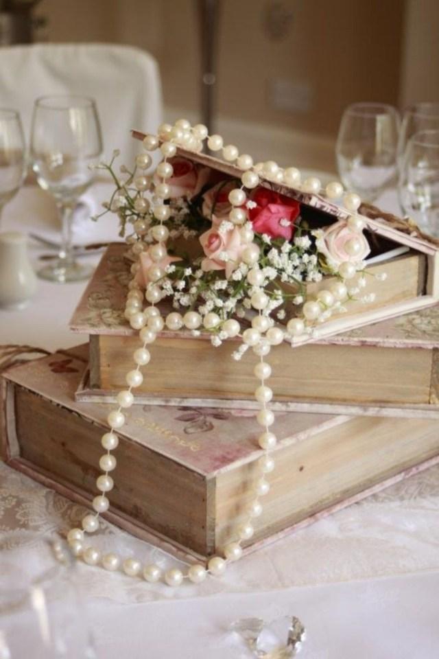 Books Wedding Decor Shab Chic Wedding Centrepieces 21 Shab Chic Vintage Wedding
