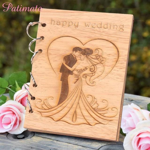 Books Wedding Decor Sweet Diy Wooden Customs Heart Tree Guestbook Wedding Signature