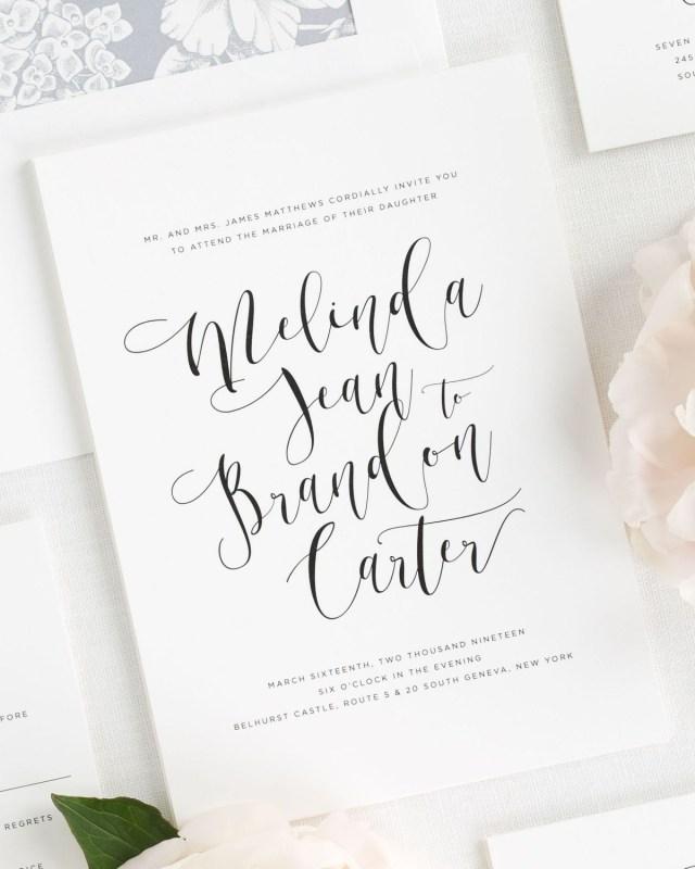 Calligraphy Wedding Invitations Flowing Calligraphy Wedding Invitations Wedding Invitations Shine