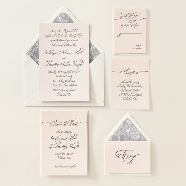 Calligraphy Wedding Invitations Meghan Markles Former Side Job As A Calligrapher People