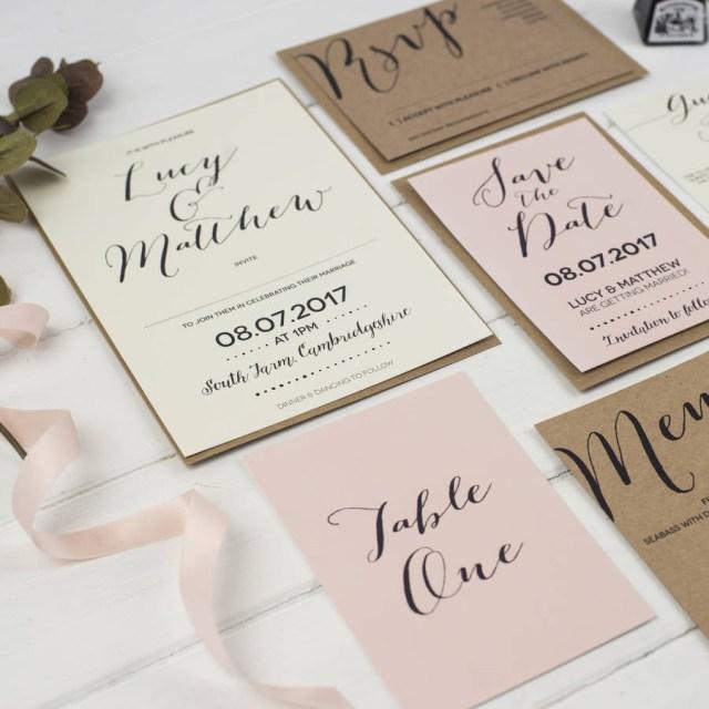 Calligraphy Wedding Invitations Modern Calligraphy Wedding Invitation Russet And Gray