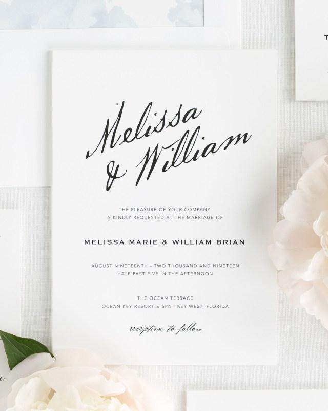Calligraphy Wedding Invitations Modern Calligraphy Wedding Invitations Wedding Invitations Shine