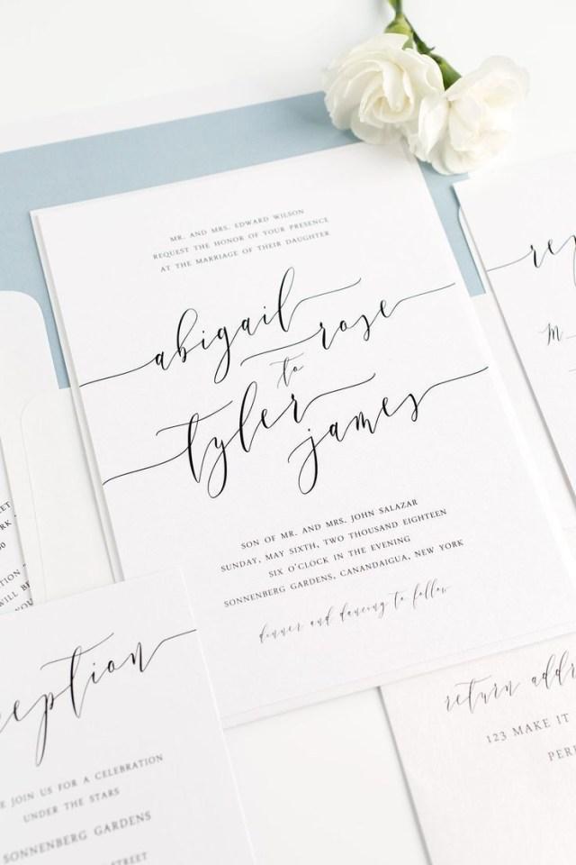 Calligraphy Wedding Invitations Romantic Calligraphy Wedding Invitations Member Board Stationery