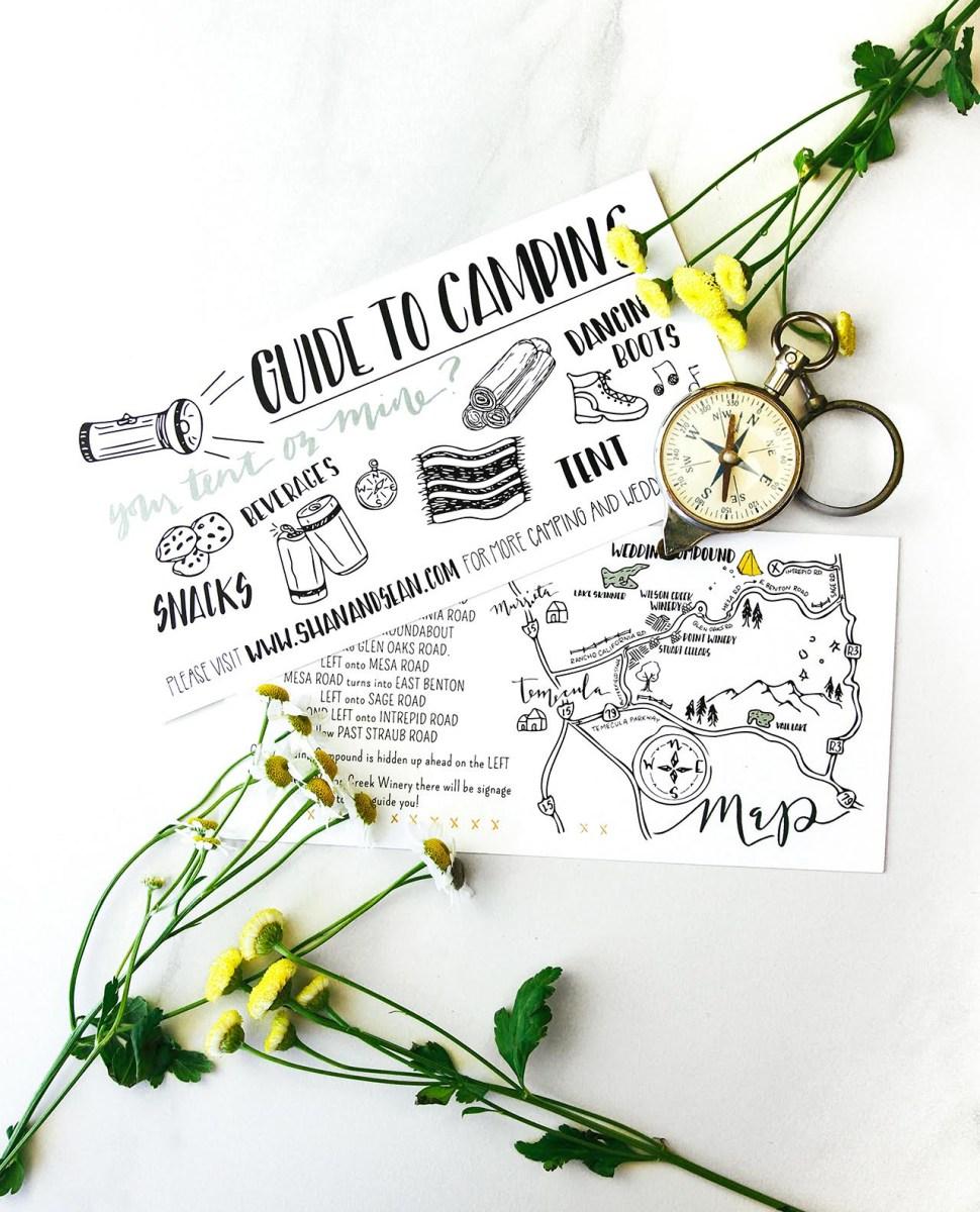Camping Wedding Invitations Moonrise Kingdom Inspired Wedding Invitations
