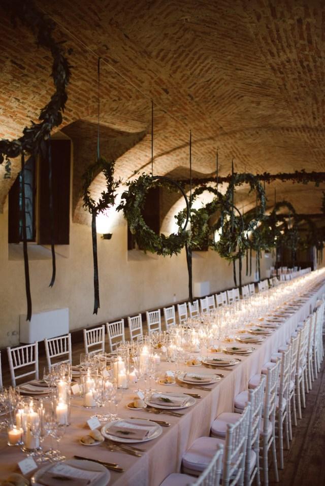Candlelight Wedding Decor Green White Bohemian Wedding At Castello Di San Sebastiano Da Po