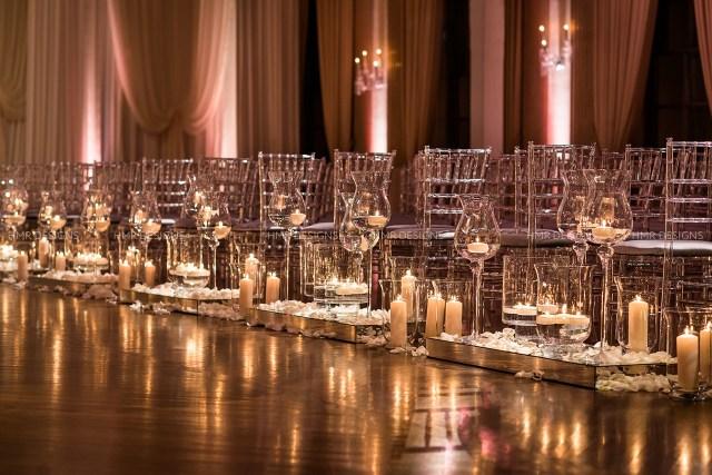 Candlelight Wedding Decor Wedding Aisle Style