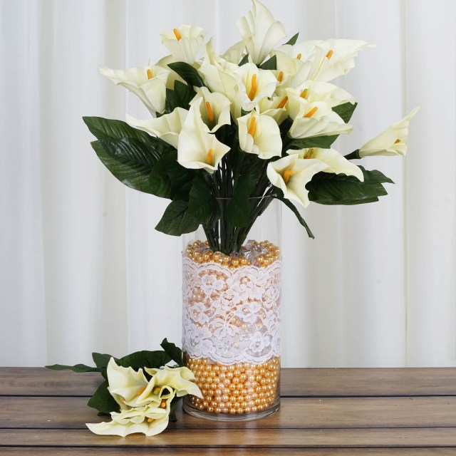 Centerpieces For Wedding Efavormart 84 Artificial Calla Lily Flowers For Diy Wedding Bouquets