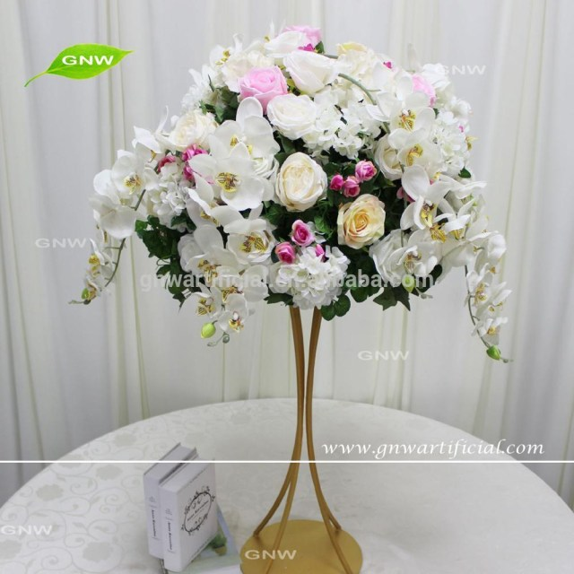 Centerpieces For Wedding Gnw Colorful Flower Ball Arrangement Artificial Orchid And Rose