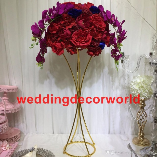 Centerpieces For Wedding New 2019 Gold Candle Holders Flower Vase Candlestick Wedding
