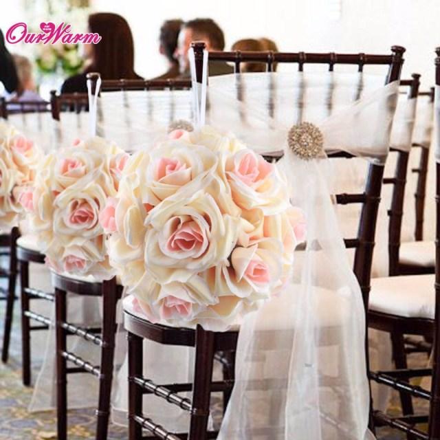 Centerpieces For Wedding Ourwarm Artificial Silk Rose Flower Balls Wedding Centerpiece For