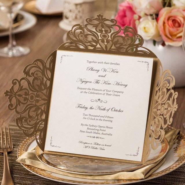 Cheap Invitations Wedding Cheap Gold Wedding Invitations Find Gold Wedding Invitations Deals