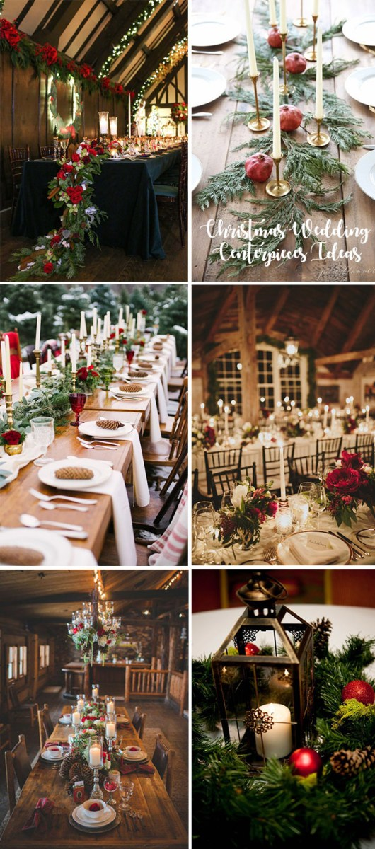 Christmas Wedding Decor 35 Awesome Festive Christmas Theme Winter Wedding Ideas
