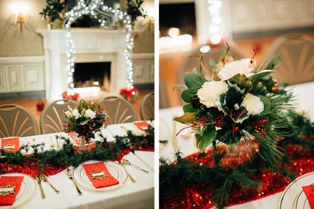 Christmas Wedding Decor Celladora Wedding Photography Christmas Wedding Centerpieces