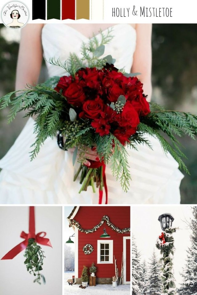 Christmas Wedding Decor Winter Wedding Bouquets Winter Bouquet At Christmas Wedding