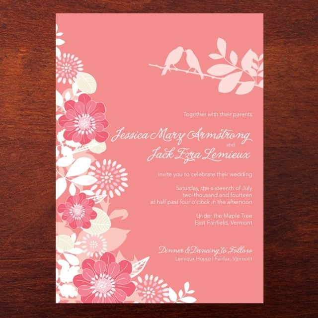 Coral And Grey Wedding Invitations Coral And Grey Wedding Invitations Check More Image At Http
