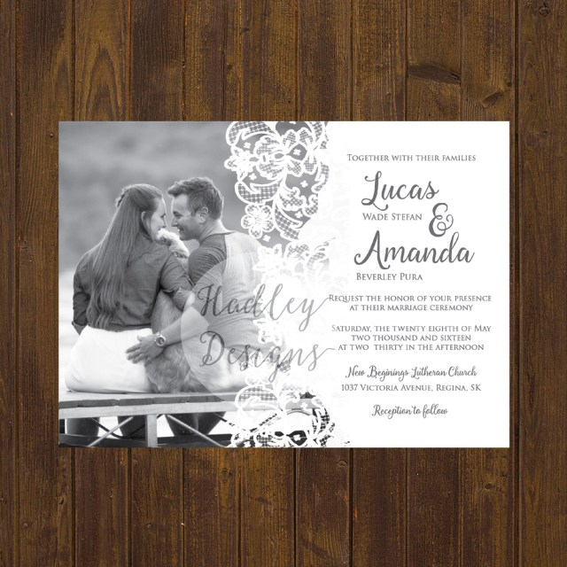 Country Wedding Invites Hadley Designs Rustic