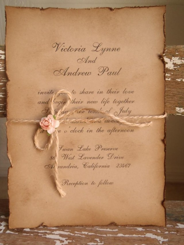 Country Wedding Invites Woodland Vintage Kraft Blush Pink Wedding Invitation Rustic