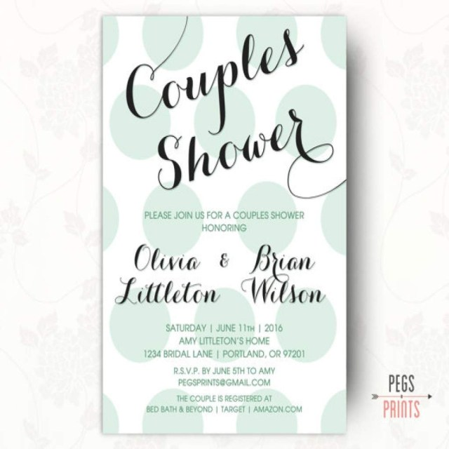 Couples Wedding Shower Invitations Coed Bridal Shower Invitation Beer Etsy Best For Dress