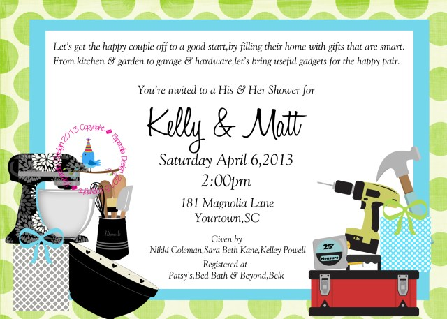 Couples Wedding Shower Invitations Couples Wedding Shower Invitation On Luulla