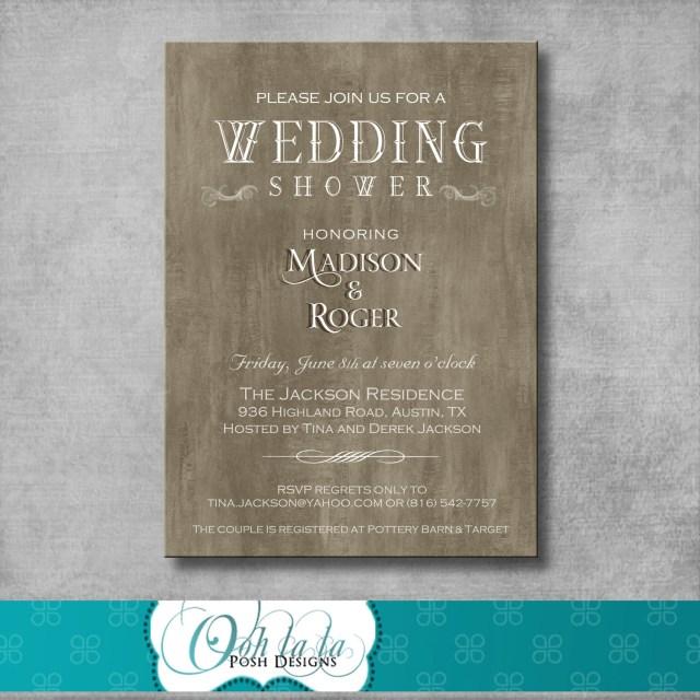 Couples Wedding Shower Invitations Photo Rustic Elegant Wedding Shower Image