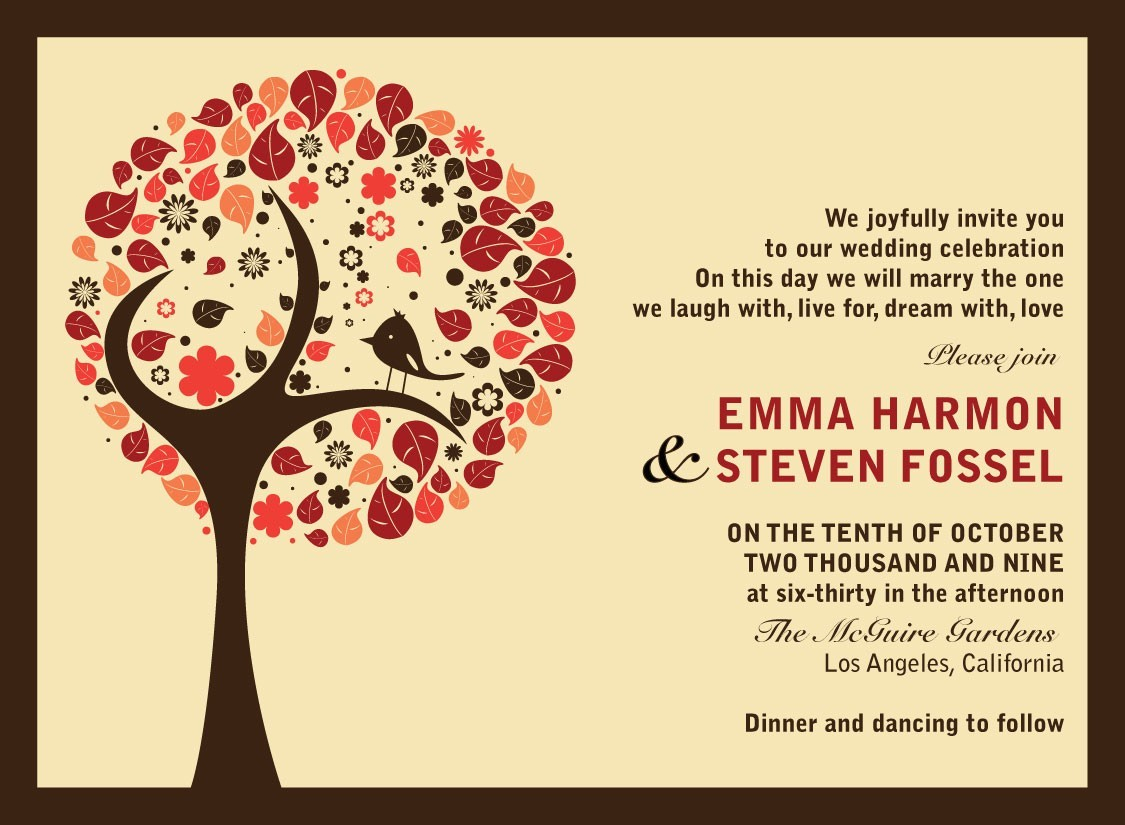 Creative Wedding Invitation Wording Find Your Perfect Fall Wedding Themes Parte One