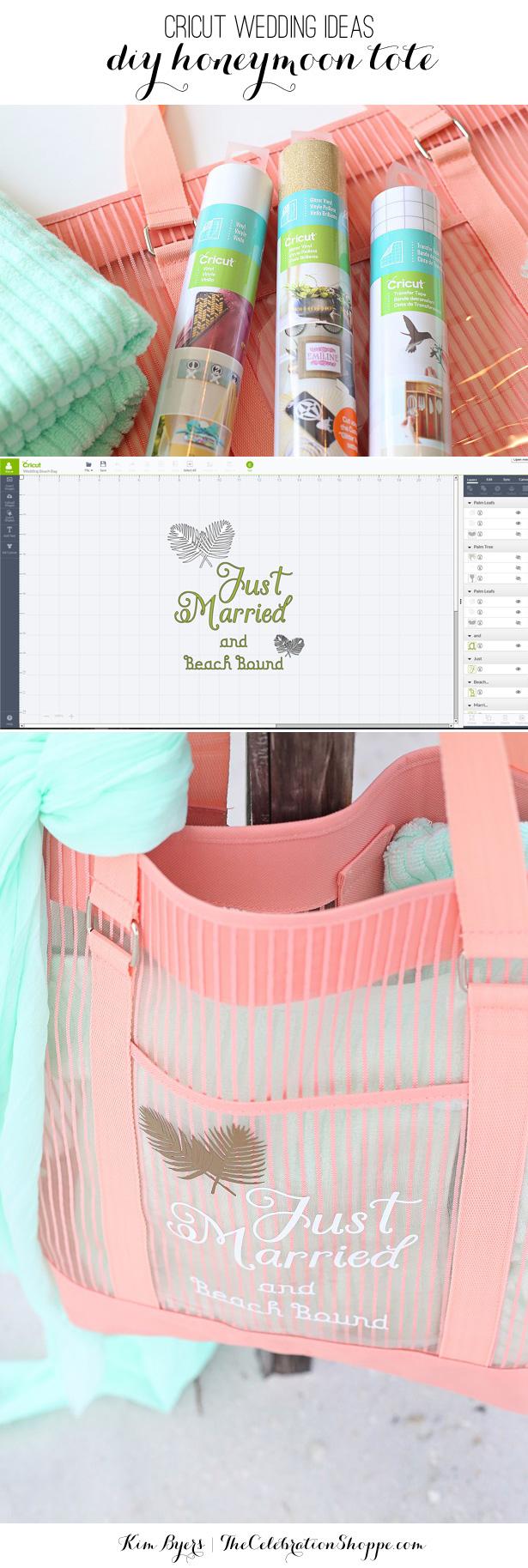 Cricut Wedding Projects Honeymoon Beach Tote 10000 Cricut Diy Wedding Giveaway The