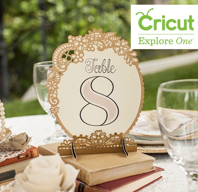 Cricut Wedding Projects Table Numbers Vintage Wedding Create And Craft