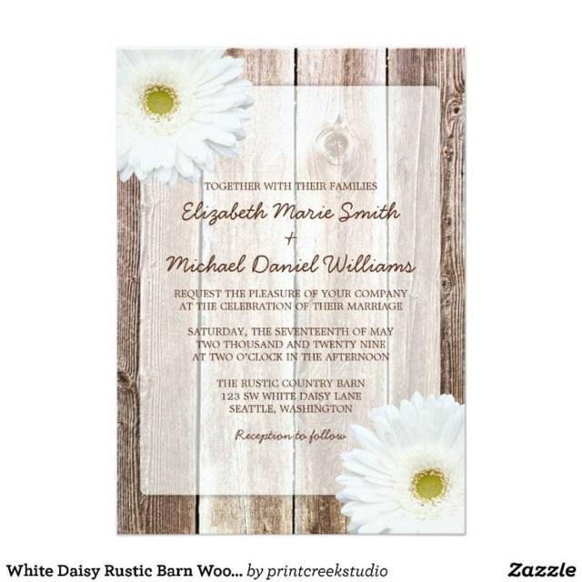 Daisy Wedding Invitations 206458 White Daisy Wedding Invitations Daisy Wedding Invitations