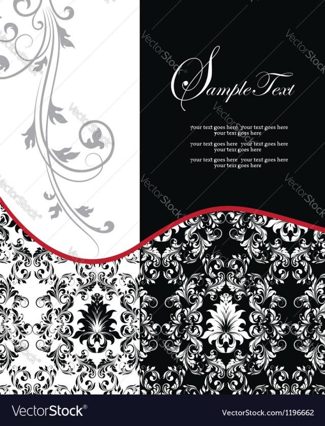 Damask Wedding Invitations Red Elegant Damask Wedding Invitation Royalty Free Vector
