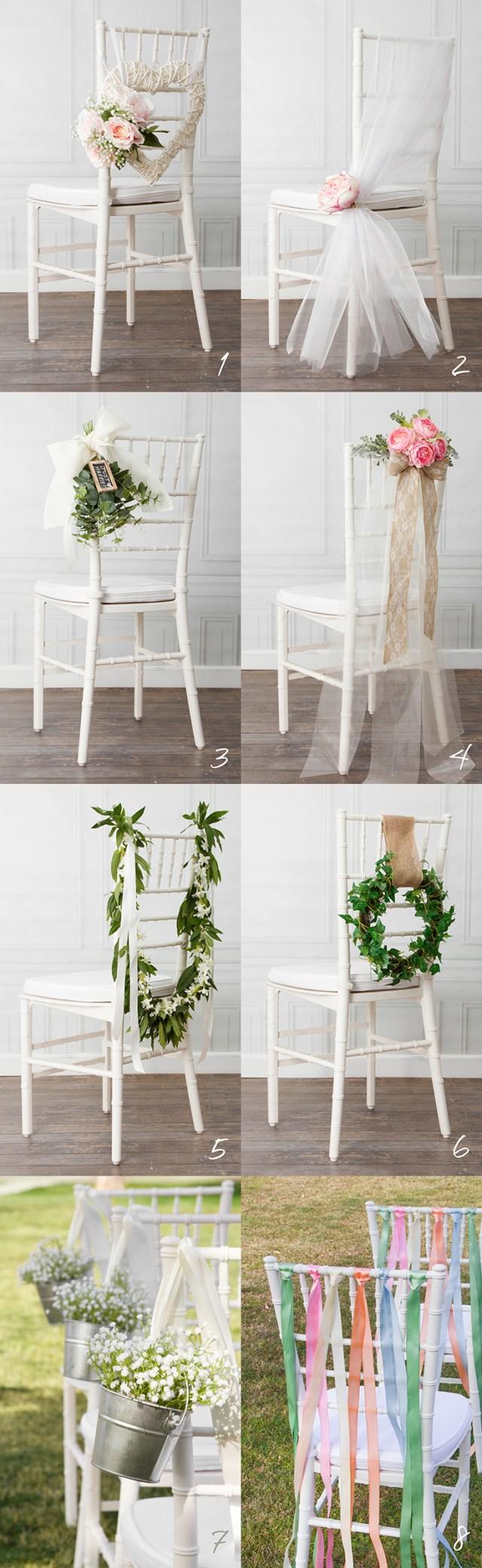 Decor Wedding Diy 8 Beautiful Diy Wedding Chair Decorations