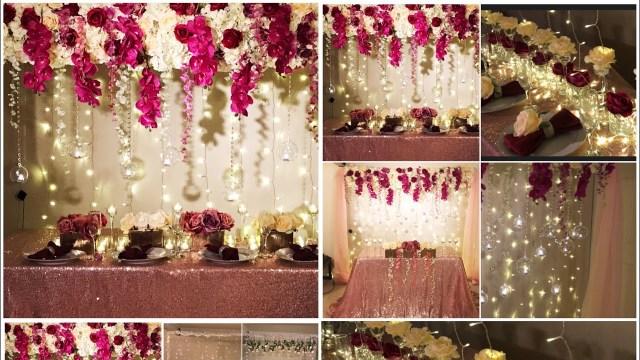 Decor Wedding Diy Diy Long Table And Backdrop Decor Diy Wedding Decor Diy Flower