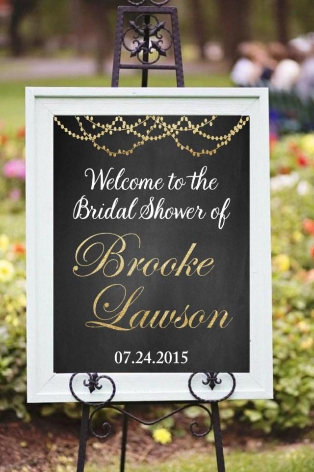 Decor Wedding Diy Welcome Bridal Shower Printable Decor Modern Chalkboard Style