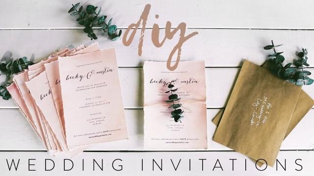 Designer Wedding Invitations Diy My Wedding Invitations With Me Youtube