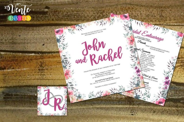 Discounted Wedding Invitations Wedding Invitations Wedding Package Philippines Affordable