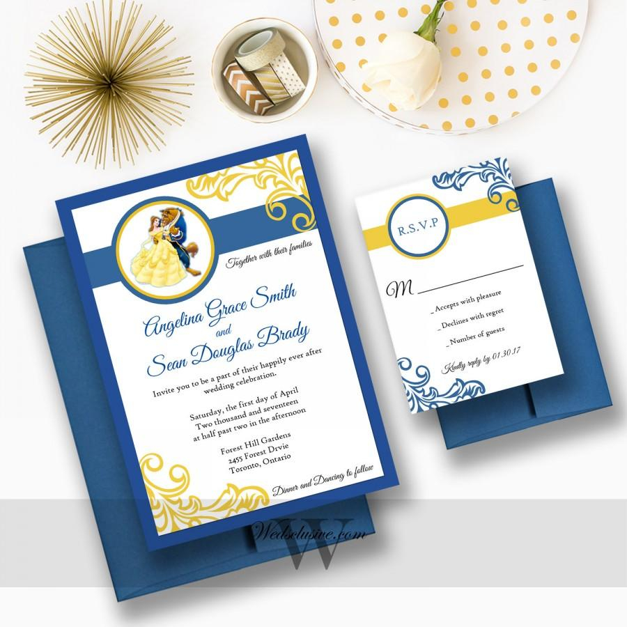 Disney Wedding Invitations Beauty And The Beast Wedding Invitations Disney Weddings Fairytale
