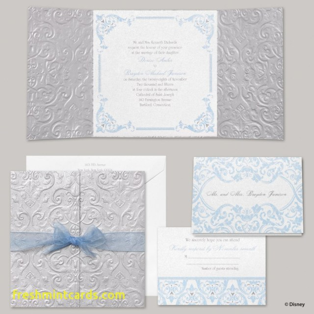 Disney Wedding Invitations Disney Fairytale Wedding Invitations Inspirational Cinderella